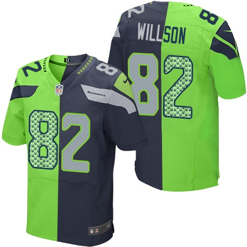 NFL Jersey's Men's Seattle Seahawks Luke Willson Nike College Navy Game Jersey